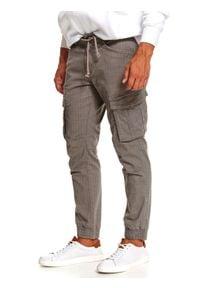 Beżowe spodnie TOP SECRET długie
