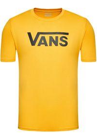 Vans T-Shirt Classic VN000GGG Żółty Classic Fit. Kolor: żółty