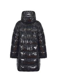 Pinko - PINKO - Pikowana kurtka Travolgere. Kolor: czarny. Materiał: materiał, syntetyk