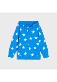 Niebieska bluza Sinsay z nadrukiem