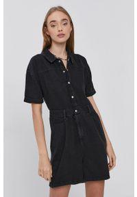 Noisy may - Noisy May - Kombinezon jeansowy. Okazja: na co dzień. Kolor: czarny. Materiał: jeans. Długość rękawa: krótki rękaw. Długość: krótkie. Wzór: gładki. Styl: casual