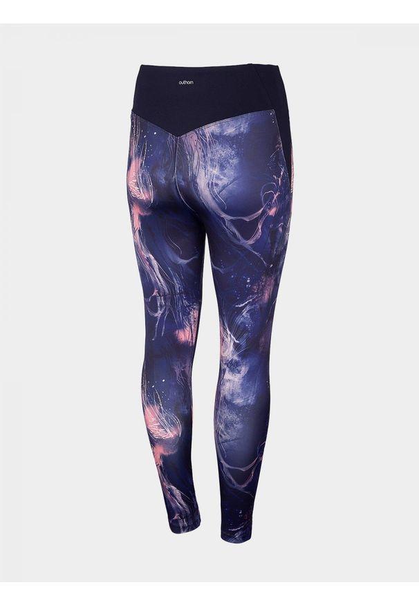 Wielokolorowe spodnie do fitnessu outhorn do kostek