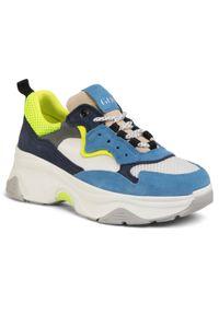 Niebieskie buty sportowe GOE na co dzień, z cholewką