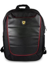 Czarny plecak na laptopa Ferrari