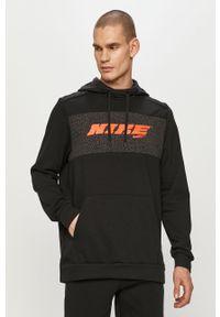 Czarna bluza nierozpinana Nike z nadrukiem, casualowa, na co dzień, z kapturem