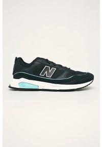 Niebieskie sneakersy New Balance z cholewką, na sznurówki