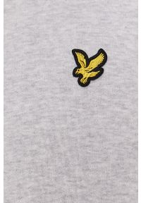 Szara bluza nierozpinana Lyle & Scott casualowa, bez kaptura, gładkie, na co dzień