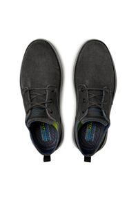 skechers - Skechers Sneakersy 65910 BLK Szary. Kolor: szary