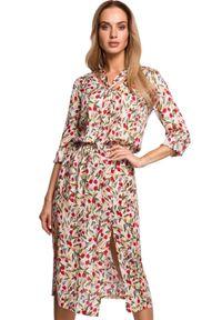 Sukienka MOE w kwiaty, midi