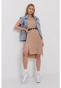 Sukienka Pieces z krótkim rękawem, casualowa, gładkie, prosta