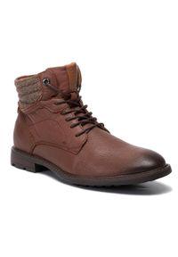 Brązowe buty zimowe Big-Star klasyczne, z cholewką