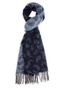 Niebieski szalik Lancerto casualowy, paisley