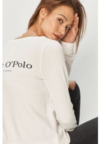 Biała bluza Marc O'Polo z nadrukiem, polo