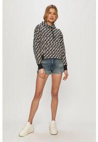 Calvin Klein Jeans - Bluza bawełniana. Okazja: na co dzień. Typ kołnierza: kaptur. Kolor: czarny. Materiał: bawełna. Długość rękawa: długi rękaw. Długość: długie. Styl: casual
