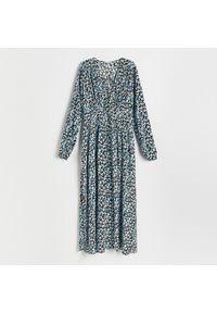 Reserved - Sukienka z wiskozy - Niebieski. Kolor: niebieski. Materiał: wiskoza