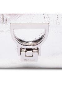 Srebrna torebka klasyczna Coccinelle skórzana