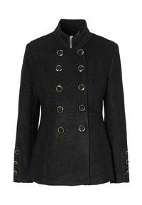 Czarna kurtka Cream elegancka, w koronkowe wzory