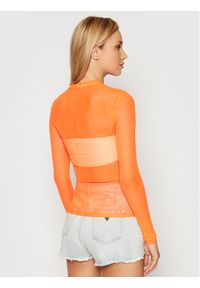 Calvin Klein Jeans Bluzka J20J216100 Pomarańczowy Slim Fit. Kolor: pomarańczowy