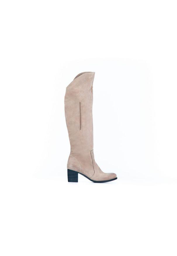 Kozaki Zapato z cholewką za kolano, w kolorowe wzory
