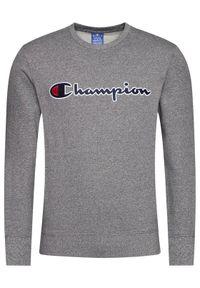 Champion Bluza Script Logo 214720 Szary Comfort Fit. Kolor: szary