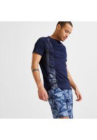 Koszulka do fitnessu DOMYOS w ażurowe wzory, z krótkim rękawem