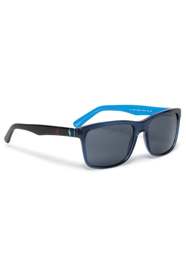 Niebieskie okulary przeciwsłoneczne Polo Ralph Lauren