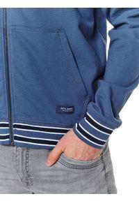TOP SECRET - Bluza rozpinana z kapturem. Okazja: na co dzień. Typ kołnierza: kaptur. Kolor: niebieski. Materiał: materiał. Długość: długie. Sezon: jesień. Styl: sportowy, casual