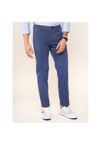 Spodnie materiałowe Tommy Hilfiger Tailored Flex TT0TT05837. Kolor: niebieski. Materiał: materiał