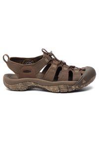 Brązowe sandały trekkingowe keen na lato