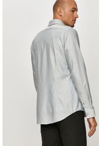 Niebieska koszula Calvin Klein klasyczna, długa, na co dzień, z klasycznym kołnierzykiem