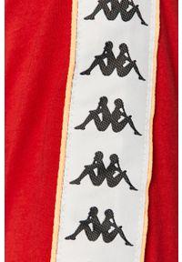 Czerwona koszulka z długim rękawem Kappa na co dzień, z aplikacjami, casualowa