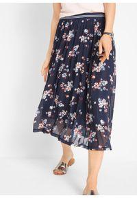Niebieska spódnica bonprix w kwiaty