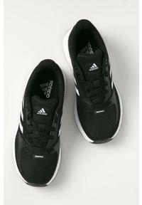 Czarne buty sportowe Adidas na sznurówki, z cholewką