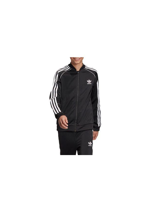 Czarna bluza Adidas w kolorowe wzory