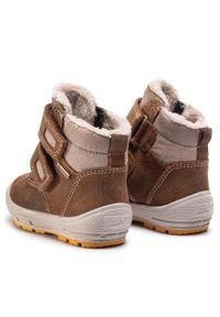 Brązowe buty zimowe Superfit z cholewką