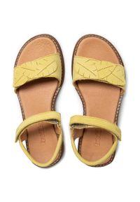 Froddo - Sandały FRODDO - G3150180 S Yellow+. Kolor: zielony. Materiał: nubuk, skóra. Wzór: aplikacja