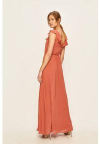 Sukienka Vila rozkloszowana, maxi, na ramiączkach