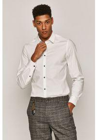 Biała koszula medicine z długim rękawem, klasyczna, długa