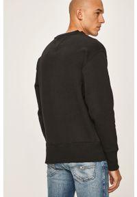 Czarna bluza nierozpinana Tommy Jeans z aplikacjami, z okrągłym kołnierzem, casualowa