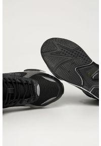 Czarne sneakersy Big-Star z okrągłym noskiem, z cholewką