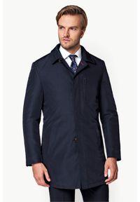Niebieski płaszcz Lancerto na zimę, klasyczny, na co dzień