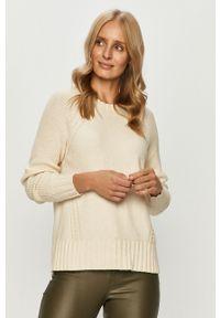 Kremowy sweter only casualowy, na co dzień