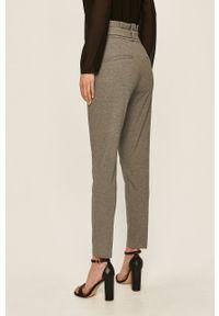 Szare spodnie materiałowe Vero Moda na co dzień, casualowe, melanż