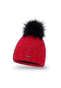 Czerwona czapka zimowa PaMaMi
