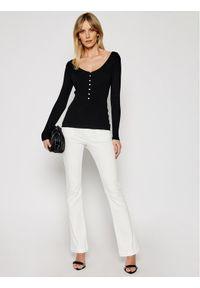 Morgan Sweter 211-MFLORA Czarny Slim Fit. Kolor: czarny