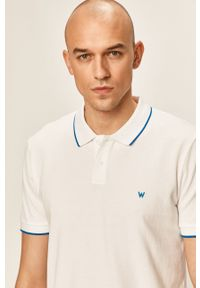 Biała koszulka polo Wrangler casualowa, polo, na co dzień, krótka