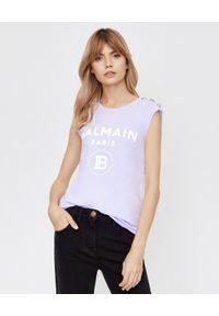 T-shirt Balmain z nadrukiem, na ramiączkach