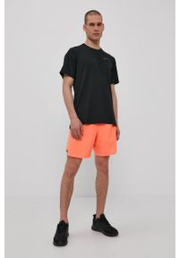 Nike - T-shirt. Okazja: na co dzień. Kolor: czarny. Materiał: tkanina, dzianina, skóra, włókno. Wzór: gładki. Styl: casual