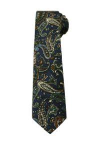 Niebieski krawat Alties paisley, wizytowy