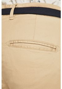 Selected - Spodnie. Kolor: beżowy. Materiał: tkanina. Wzór: gładki